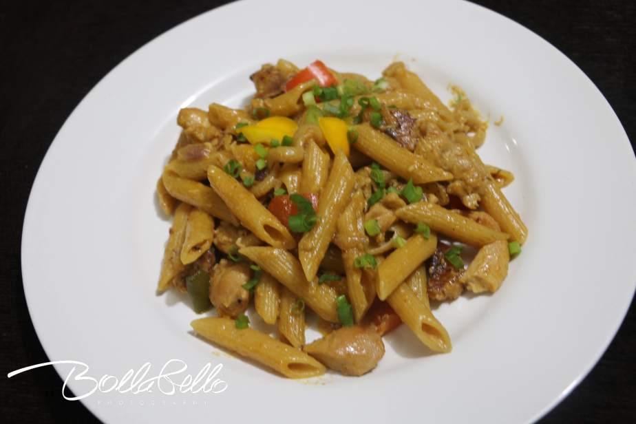 One-Pot Chicken Fajita Pasta. Inspired byTasty.